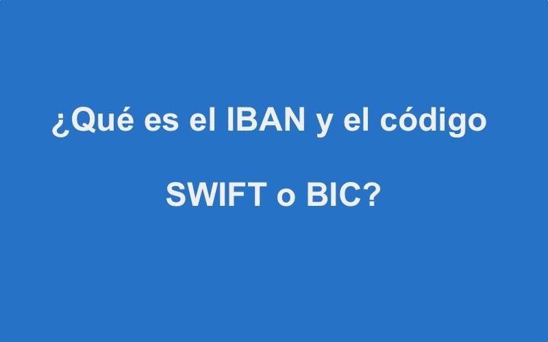 Código IBAN Y BIC