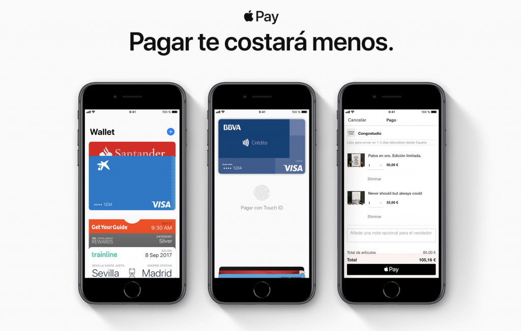 Tarjetas compatibles con Apple Pay