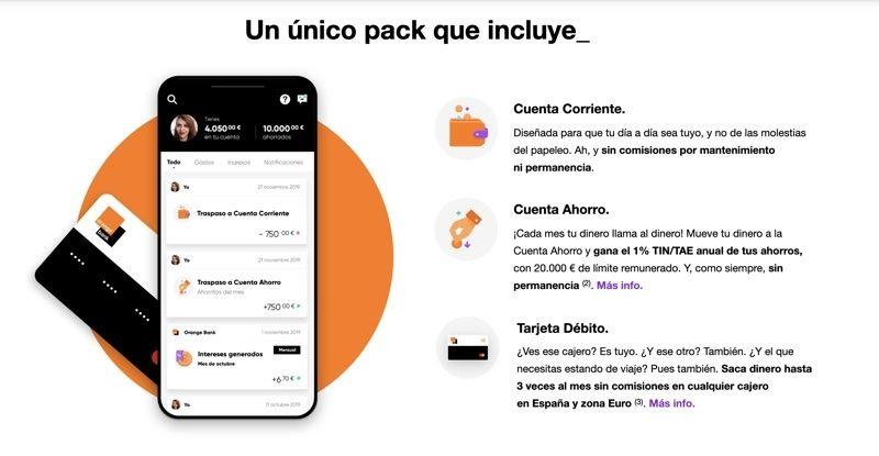 Análisis de los servicios de Orange Bank