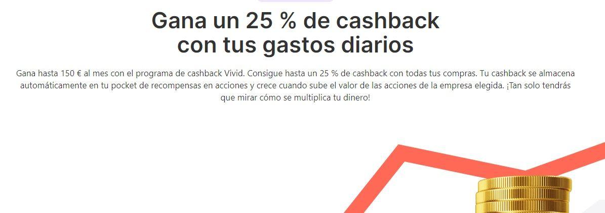 servicio cashback vivid money